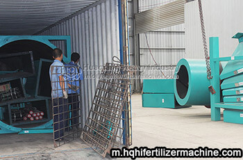 small organic fertilizer production machine exported to Nigeria